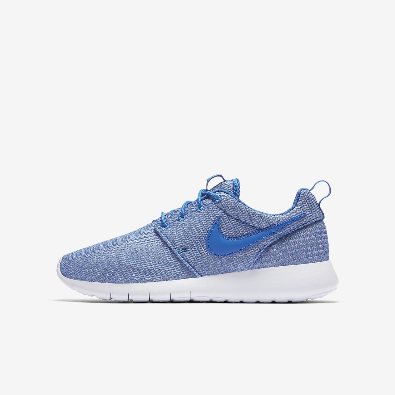nike roshe run kids' shoe blue