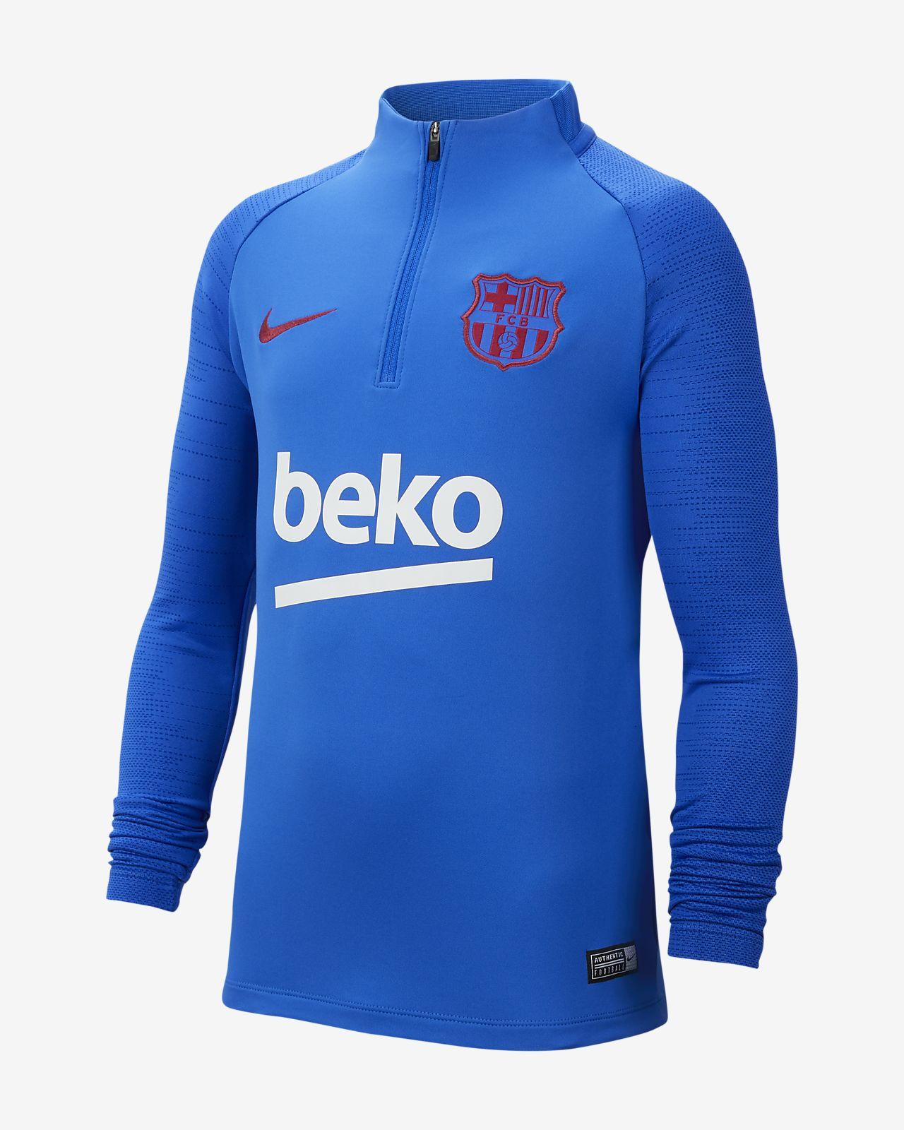 Haut d'entraînement de football FC Barcelona Strike pour Enfant plus âgé