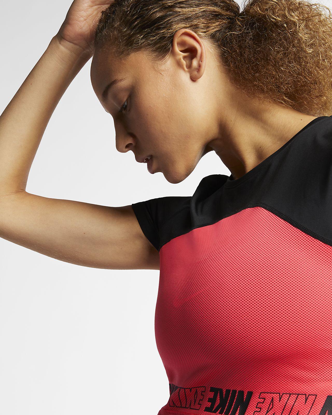 7684c6e877f4 Haut court à manches courtes Nike Pro pour Femme. Nike.com FR