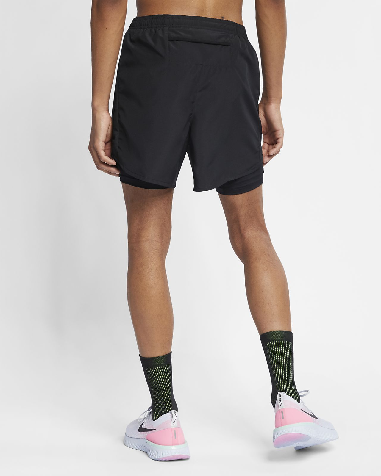 best sneakers 65d81 1b79e ... Nike Challenger Men s 2-in-1 Running Shorts