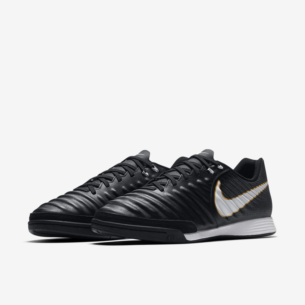 Nike TiempoX Ligera IV Indoor/Court Women's Football Shoes Black/White vK1530T