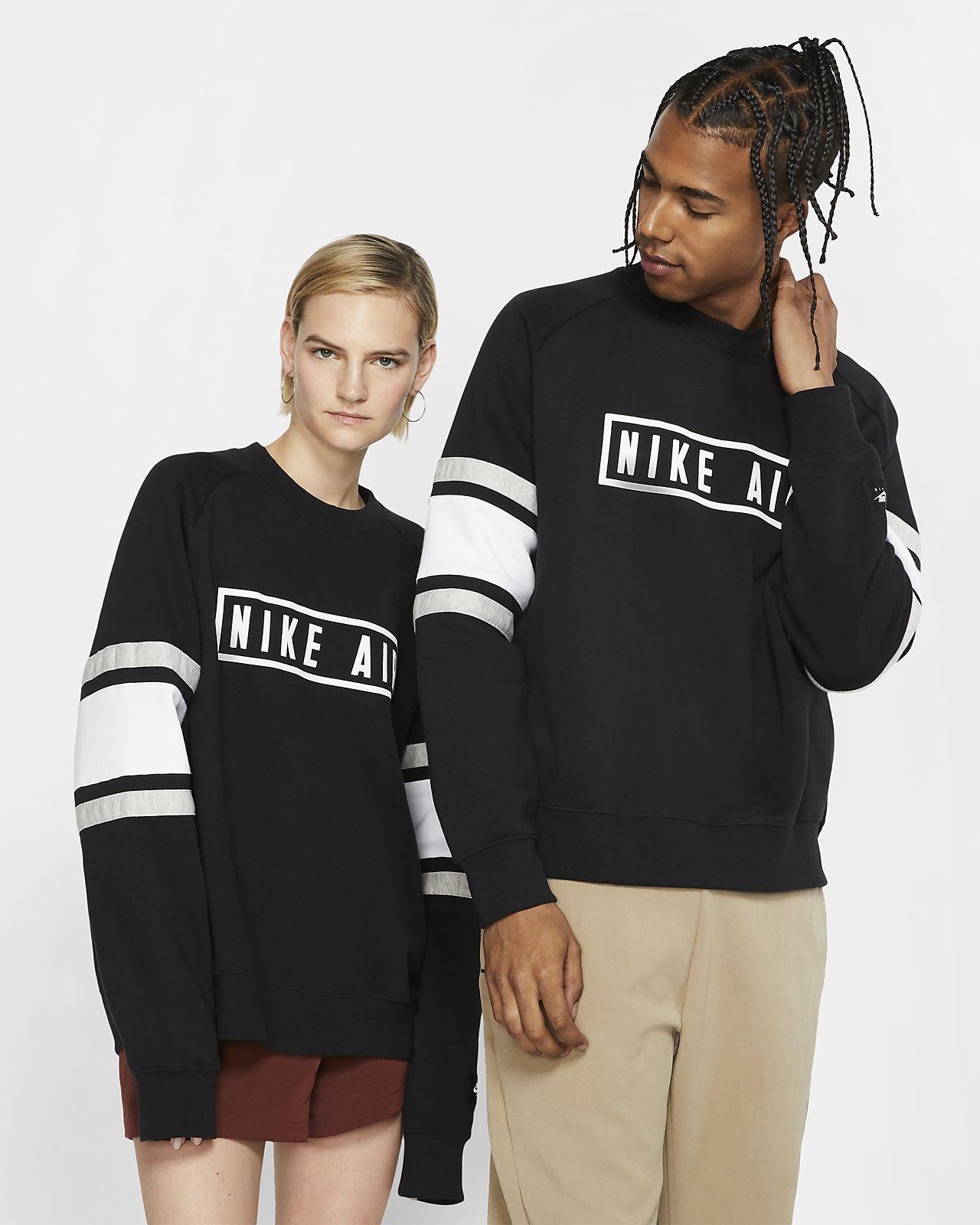 Nike Air Fleeceshirt met ronde hals