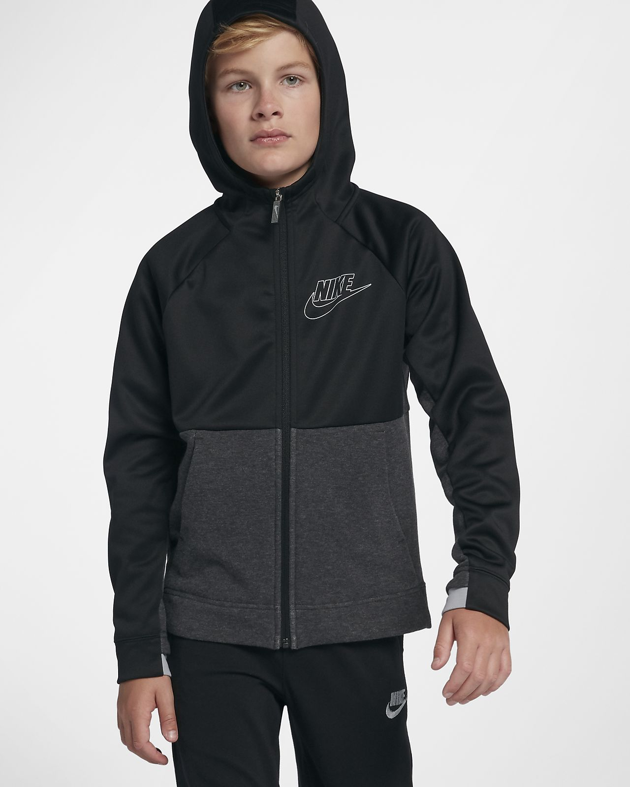 110eb6ef4 Sudadera con capucha para ninos talla grande Nike Sportswear My Nike ...