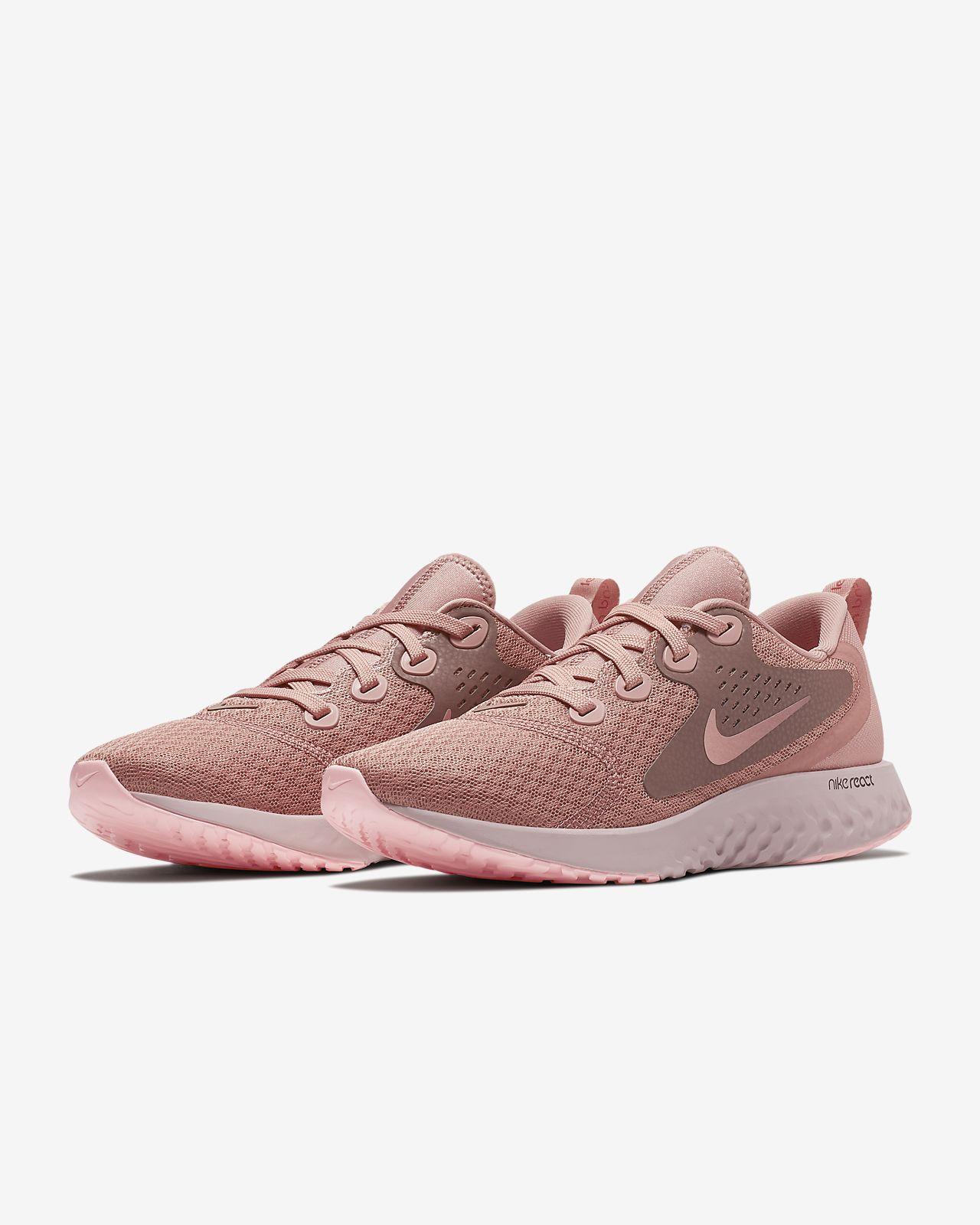 Nike Performance LEGEND REACT - Neutral running shoes - rust pink/pink tint/smokey mauve/sail QuGqDLB9GP