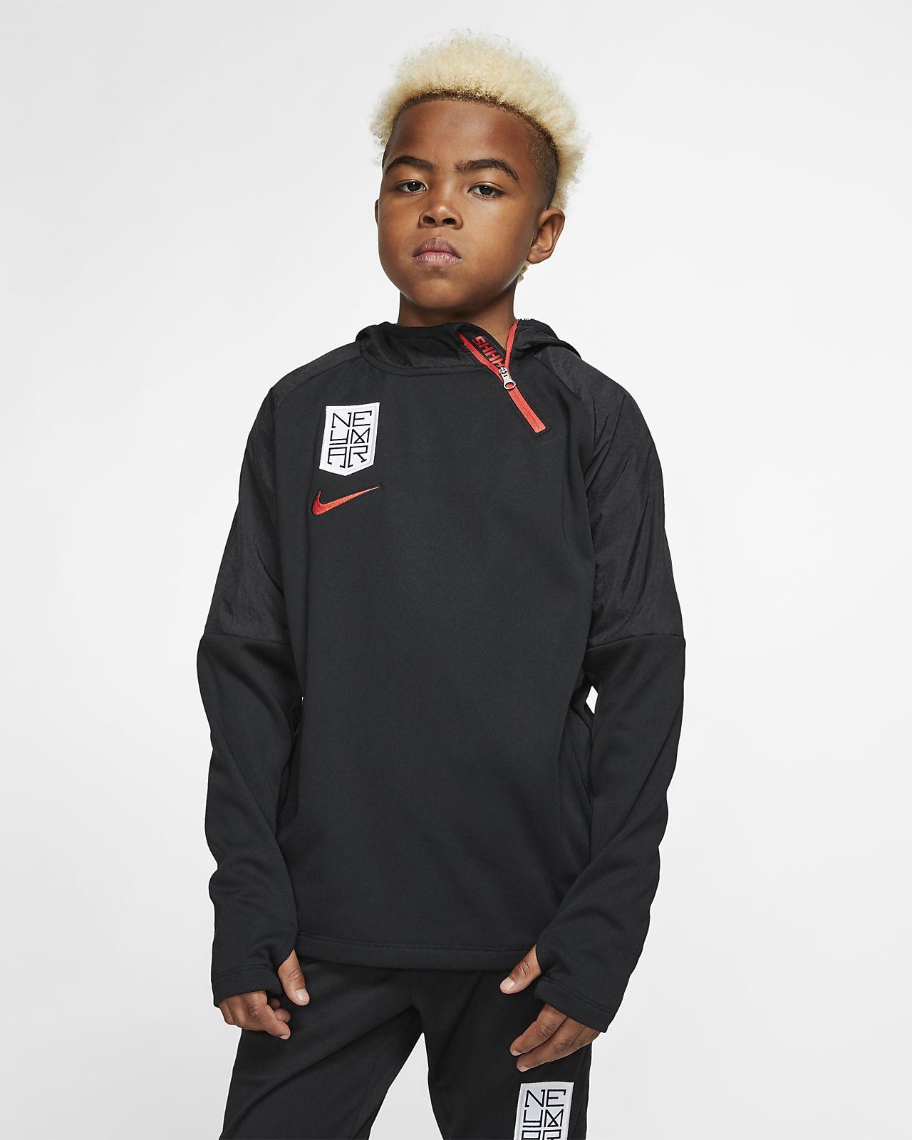 Fotbalová mikina s kapucí Nike Dri-FIT Neymar Jr. pro větší děti