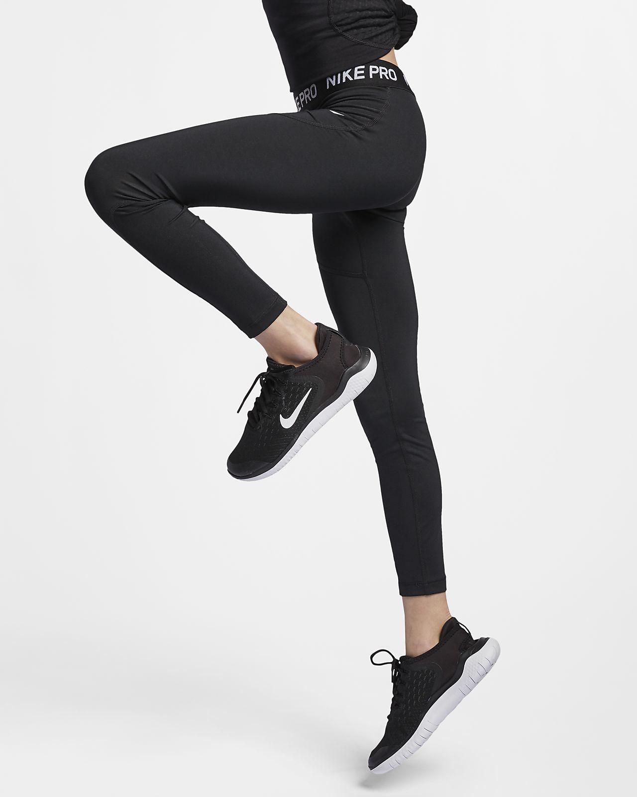 กางเกงรัดรูปเด็กโต Nike Pro (หญิง)