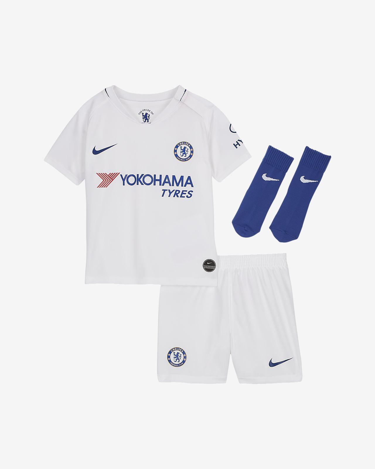 Kit de fútbol de visitante para bebé e infantil del Chelsea FC 2019/20