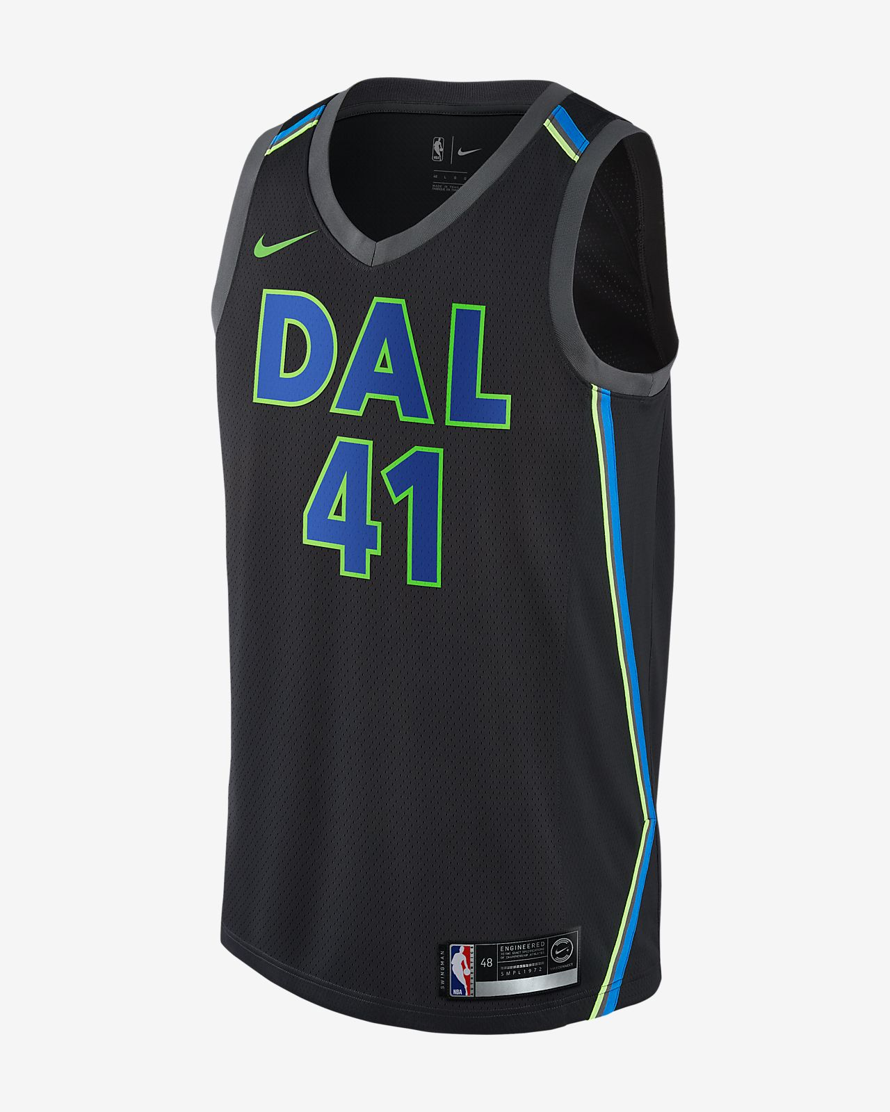 ... Camiseta conectada Nike NBA para hombre Dirk Nowitzki City Edition  Swingman Jersey (Dallas Mavericks) 436cc9900cf