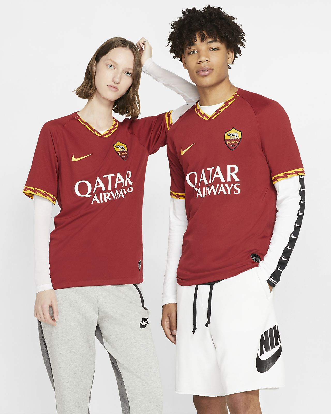 A.S. Roma 2019/20 Stadium Home Fußballtrikot