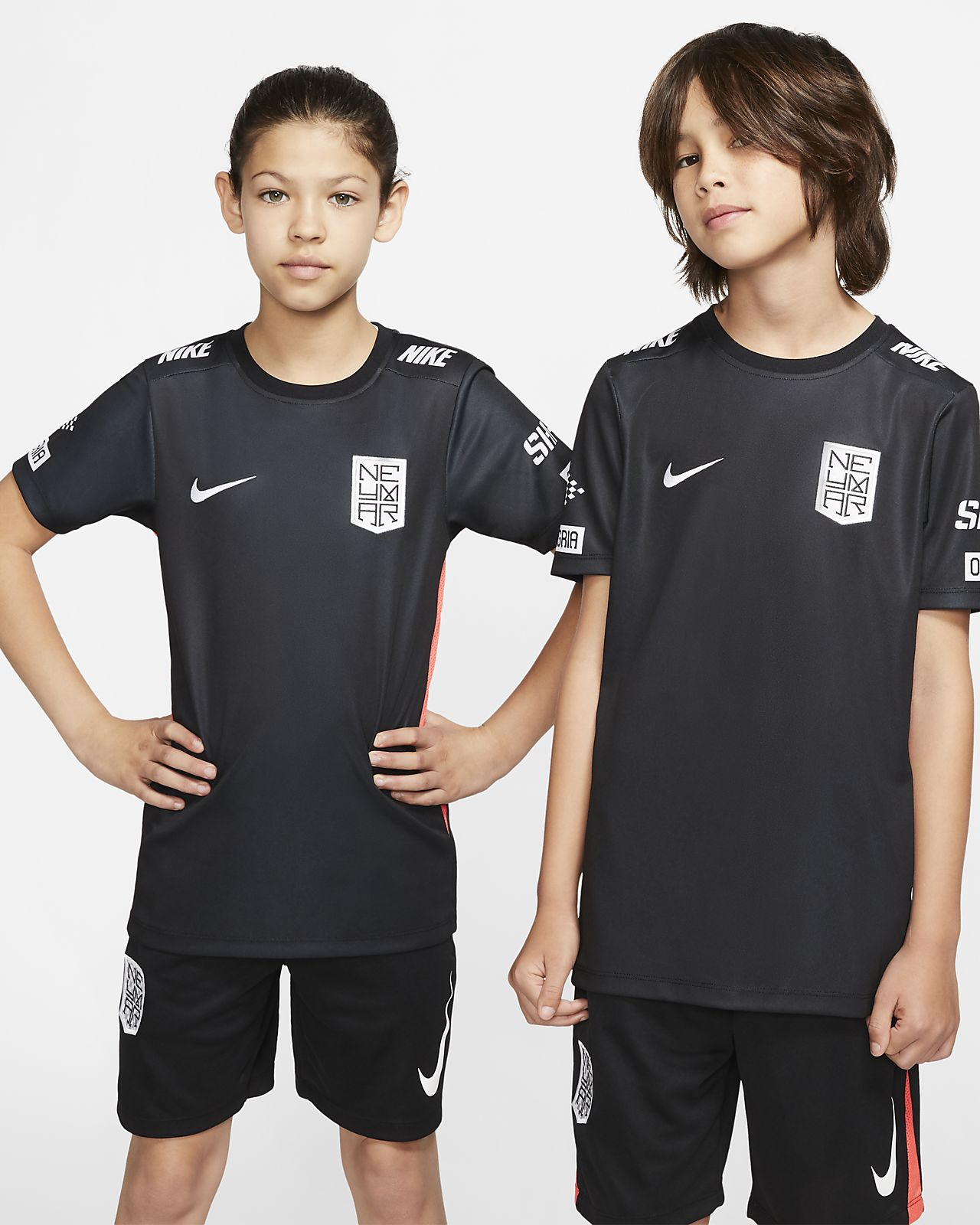 Prenda para la parte superior de fútbol de manga corta para niño talla grande Nike Dri-FIT Neymar Jr.