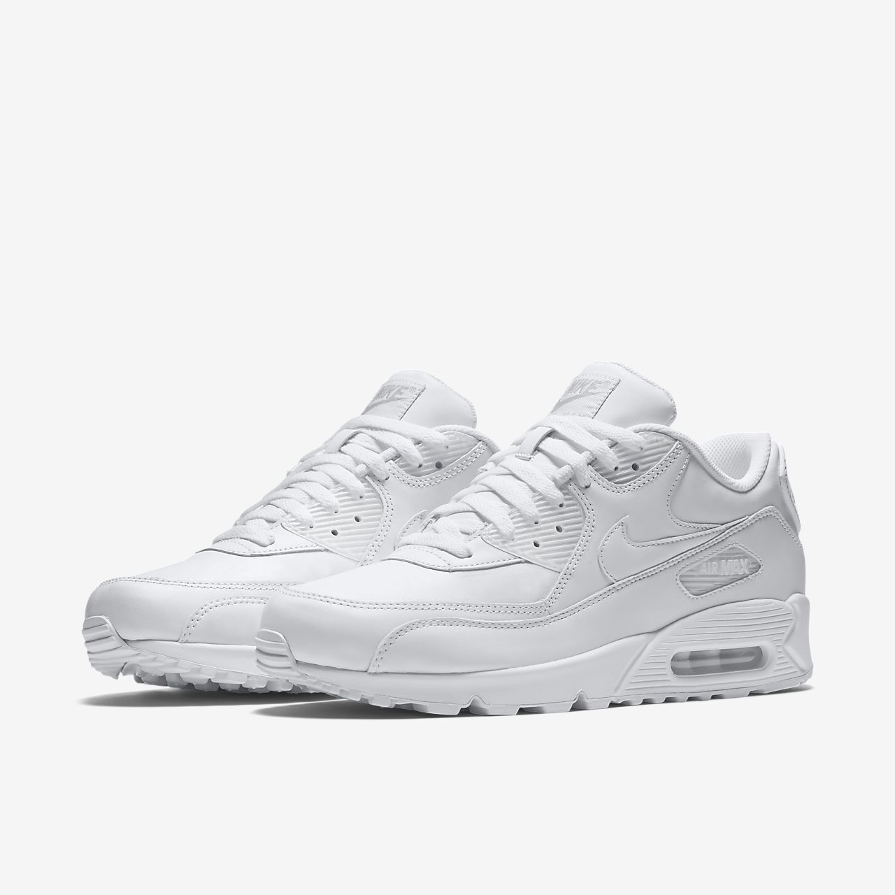 air max 90 white black