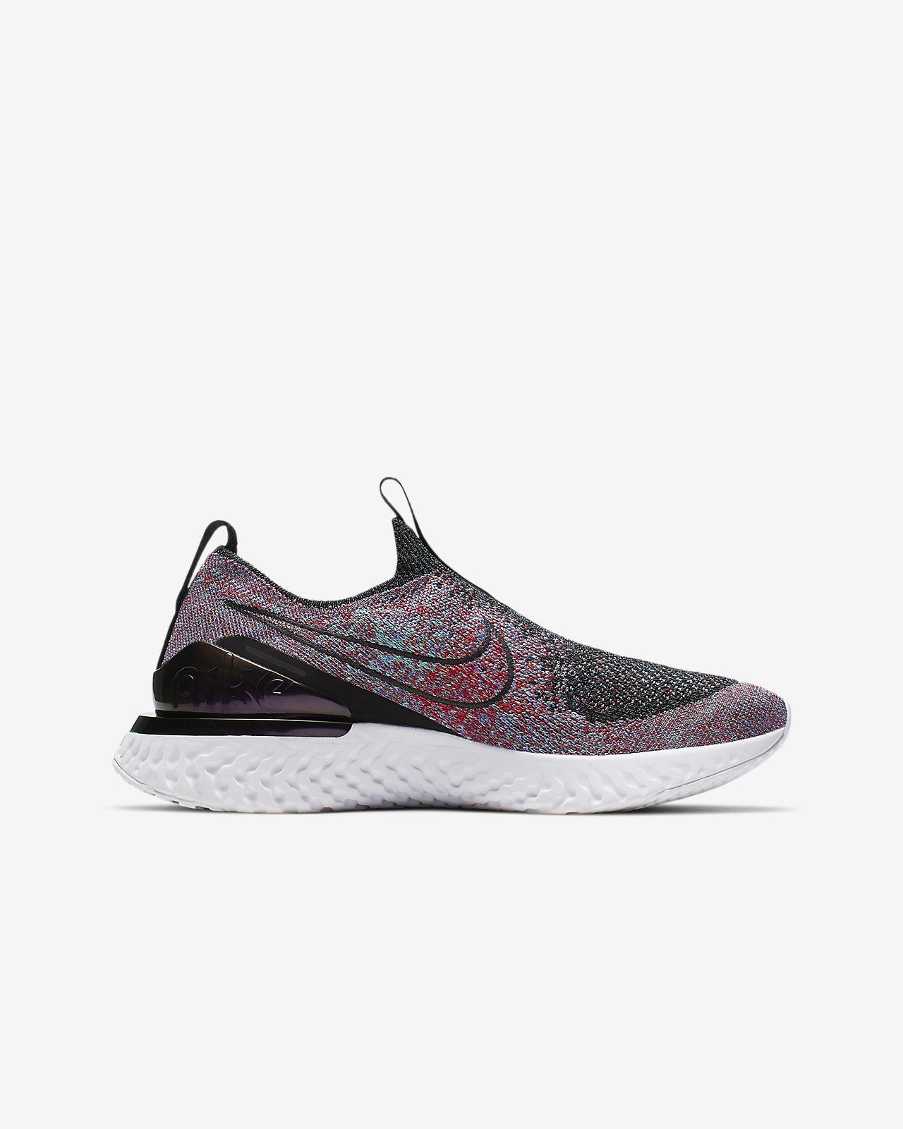 b4419b0af0e0 Nike Epic Phantom React Flyknit Big Kids  Running Shoe. Nike.com
