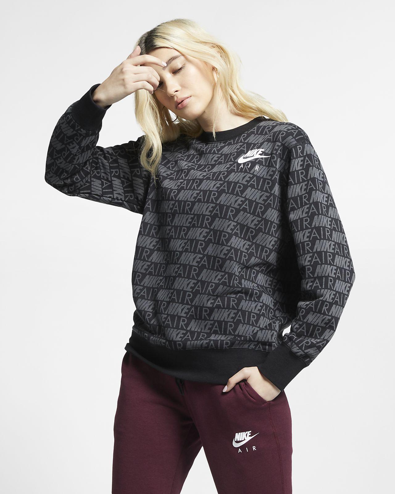 Nike Air kerek nyakkivágású mintás női pulóver