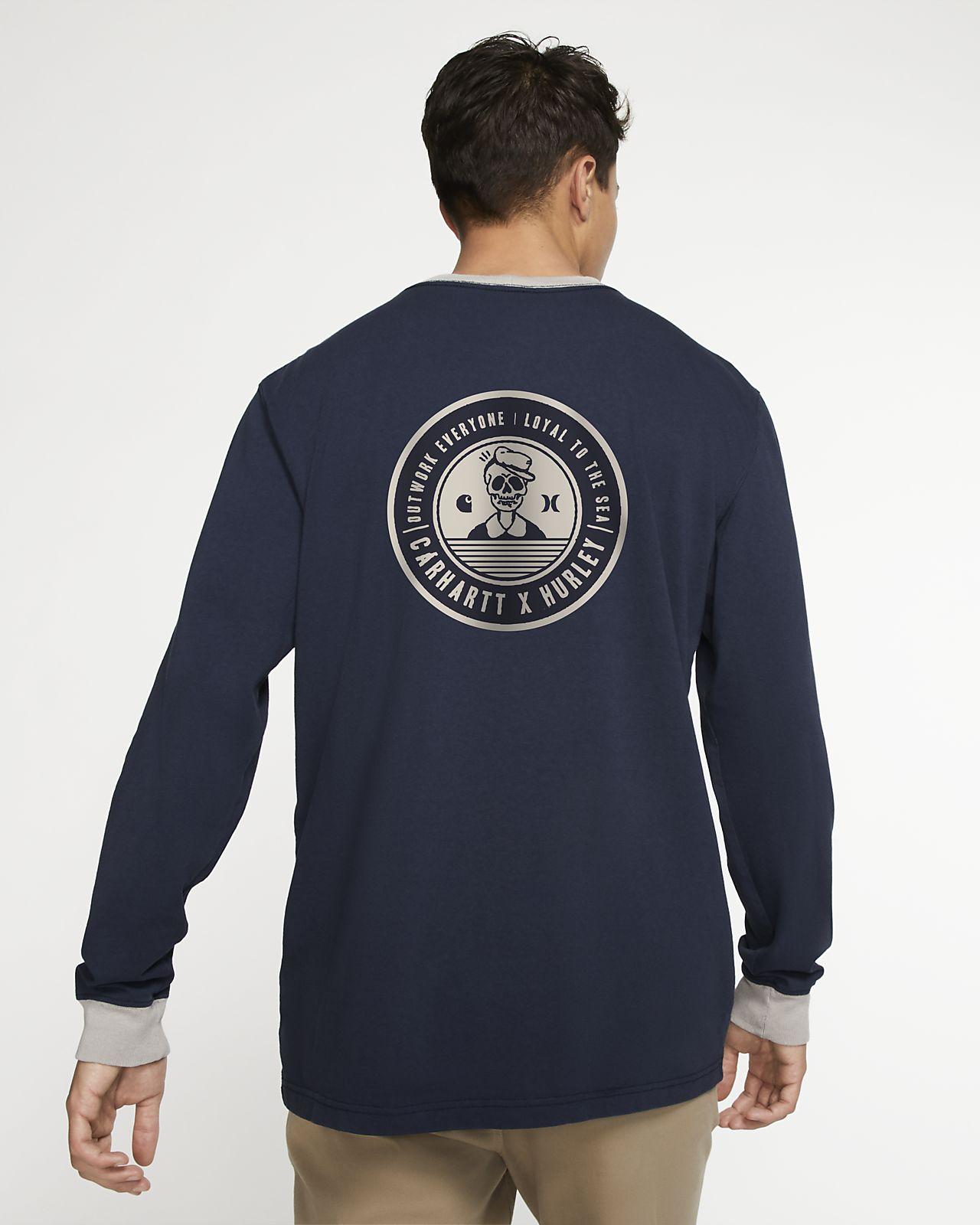 Hurley x Carhartt Ringer Uzun Kollu Erkek Tişörtü
