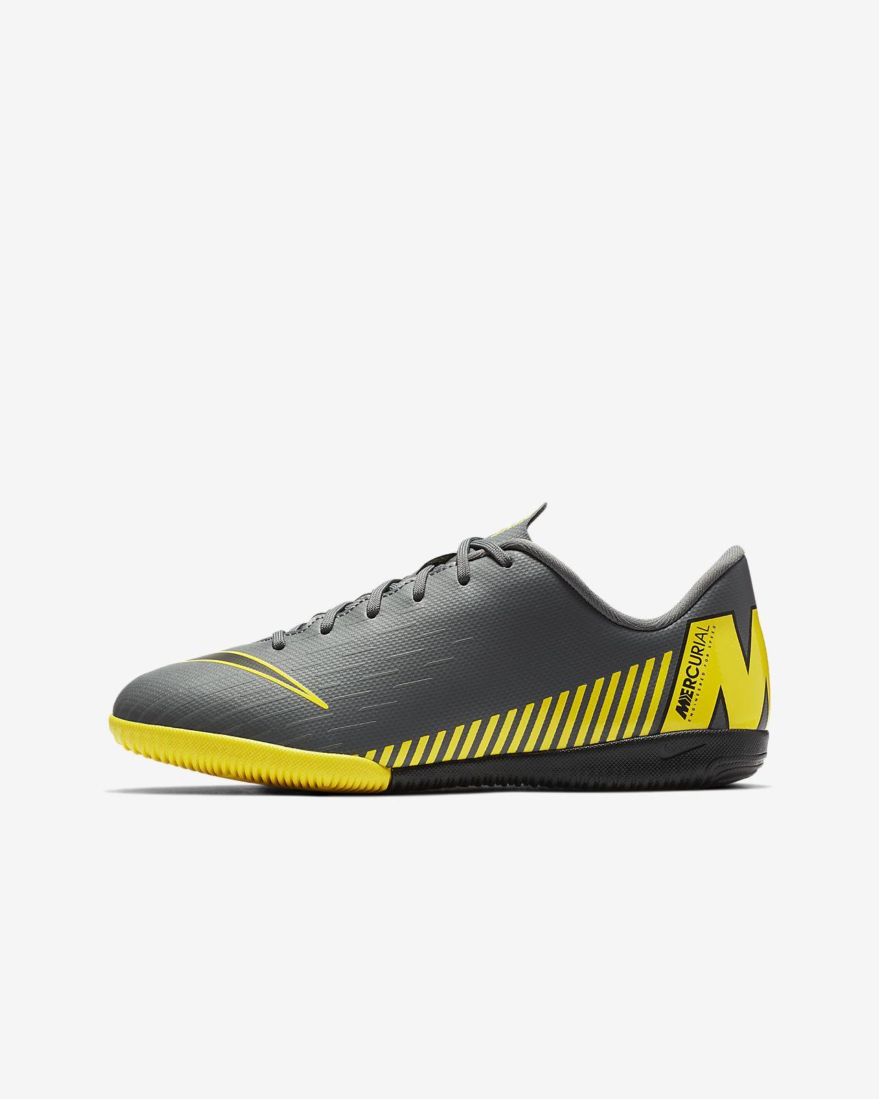 รองเท้าฟุตบอลเด็กเล็ก/โตสำหรับสนามในร่ม/คอร์ท Nike Jr. VaporX 12 Academy IC Game Over