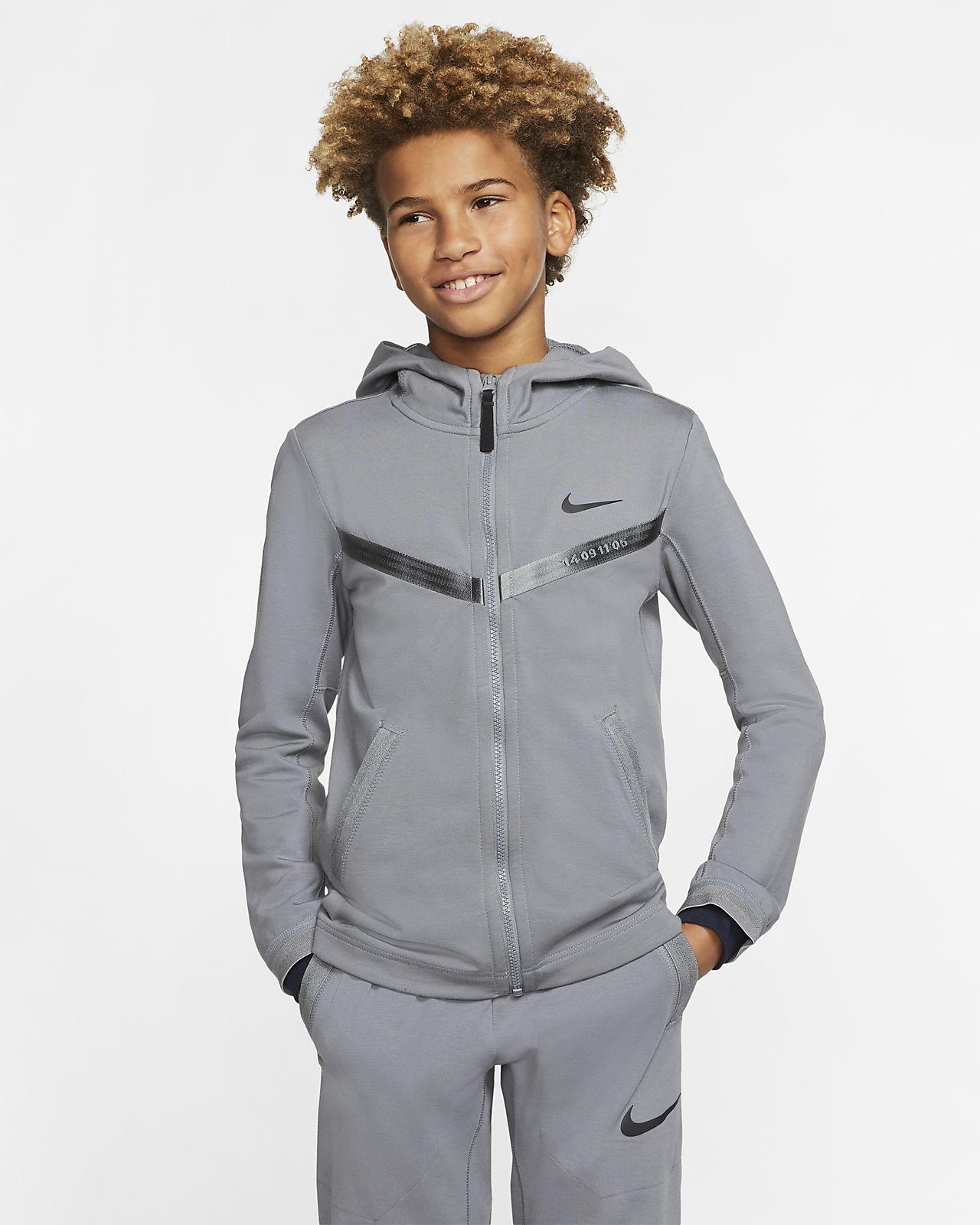 Nike Sportswear Tech Pack-hættetrøje med lynlås i fuld længde til store børn