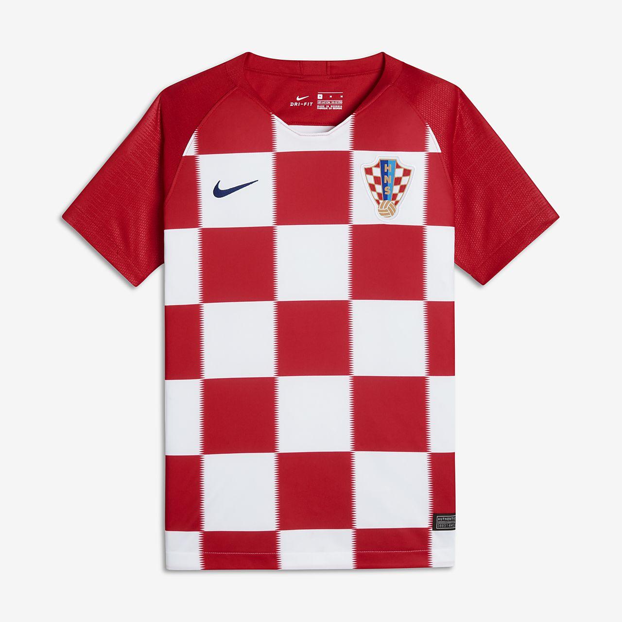 88a374cdfab34 Camiseta de fútbol para niños talla grande 2018 Croatia Stadium Home ...