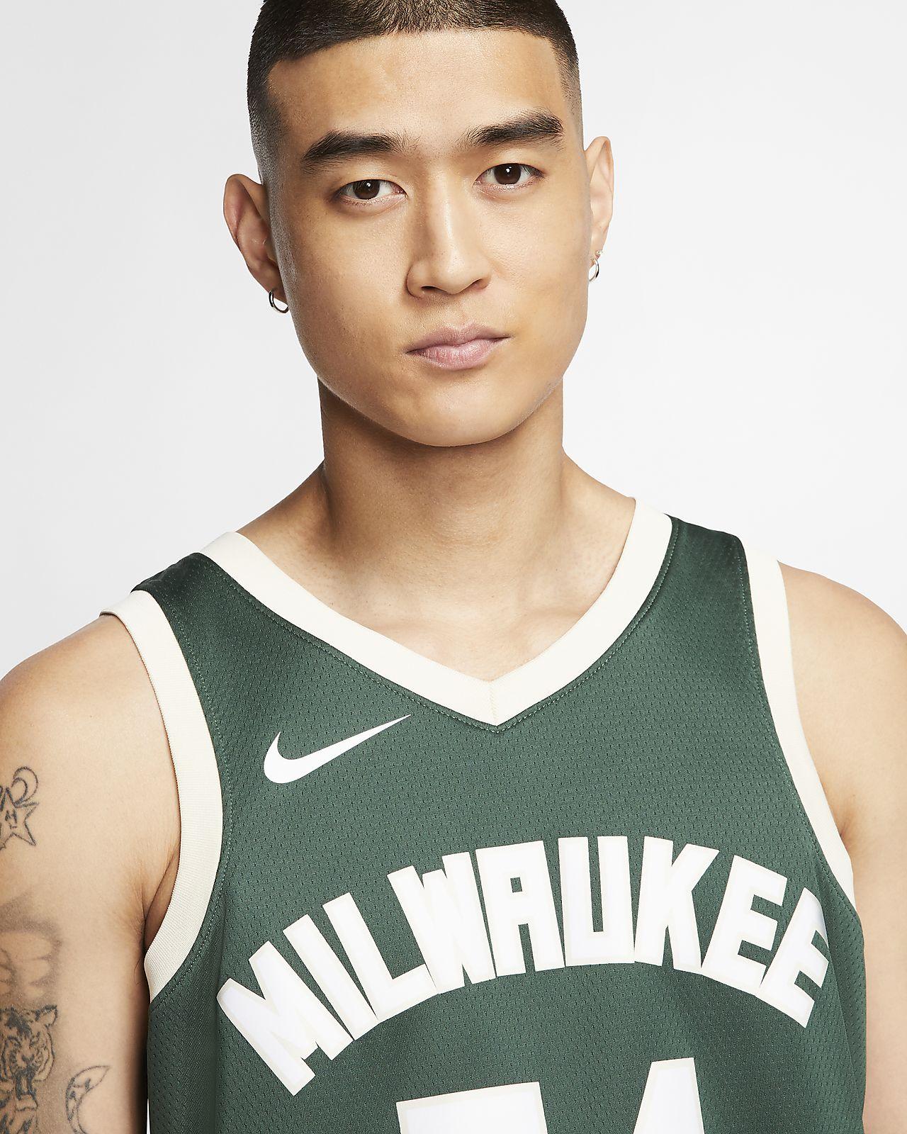 Maglia Nike NBA Giannis Antetokounmpo Milwaukee Bucks Icon Swingman Fir