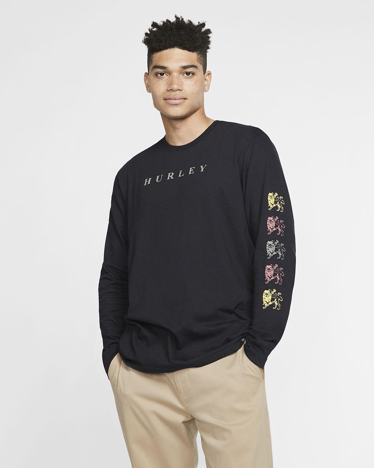 Långärmad t-shirt Hurley Premium Kingston med premiumpassform för män