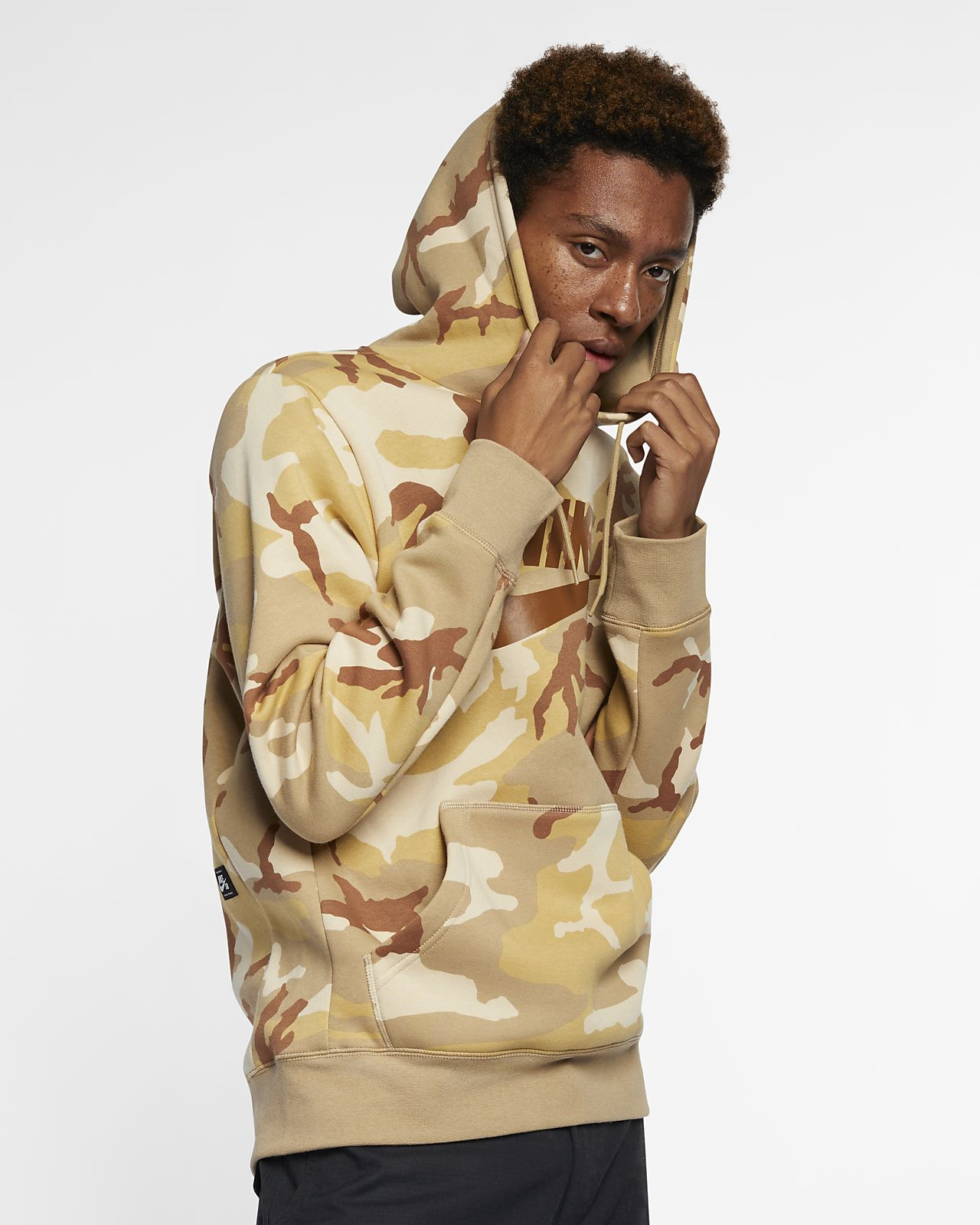 Sudadera con capucha camuflada para skateboarding Nike SB Icon