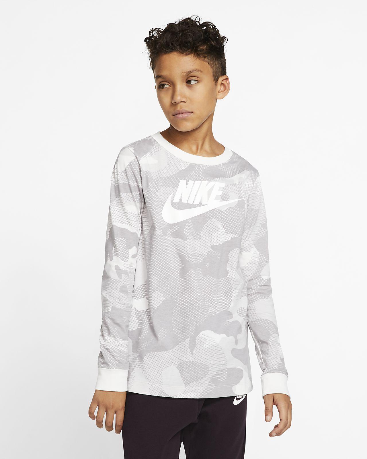 Nike Sportswear Older Kids' (Boys') Long-Sleeve T-Shirt