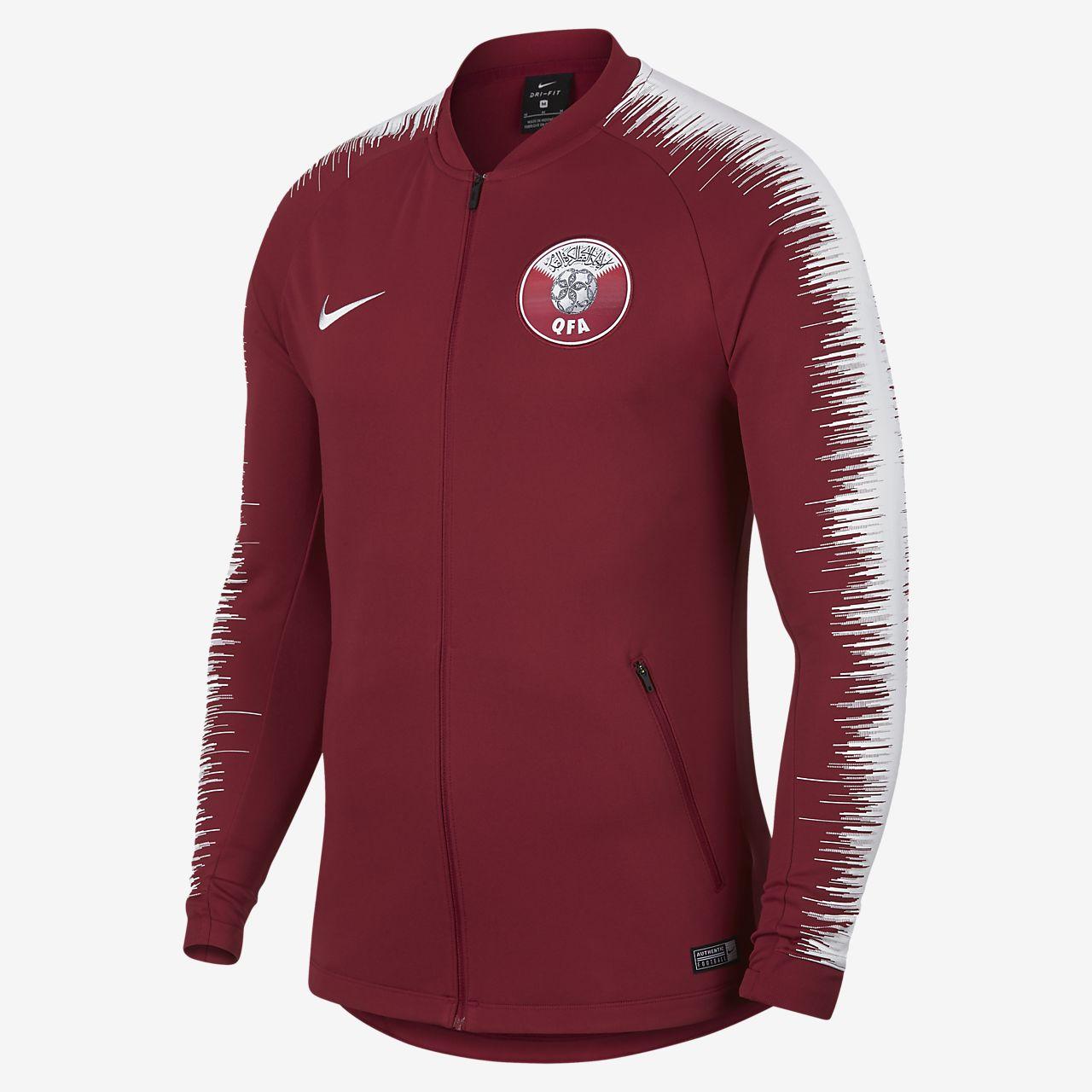Blusão de futebol Qatar Anthem para homem