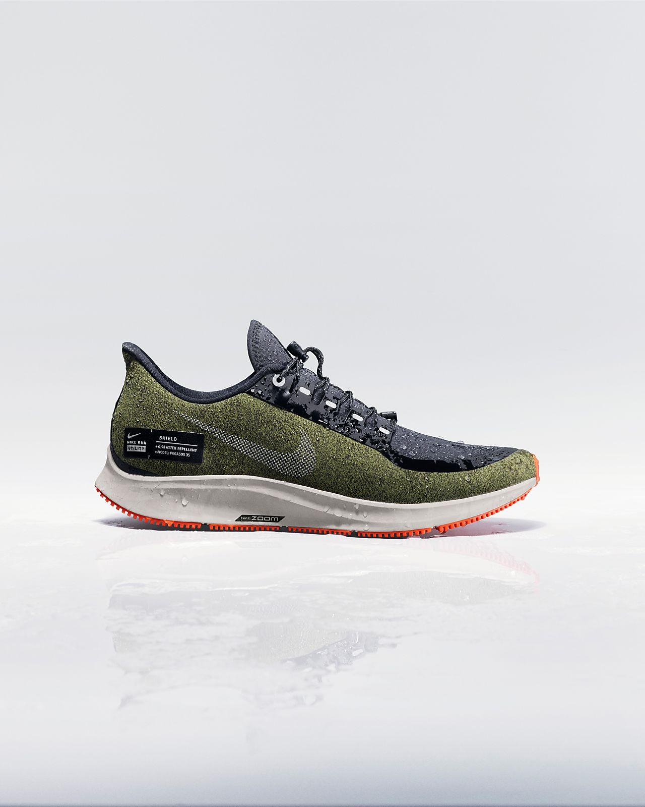 e78c9cddc045 Nike Air Zoom Pegasus 35 Shield Water-Repellent Men s Running Shoe ...