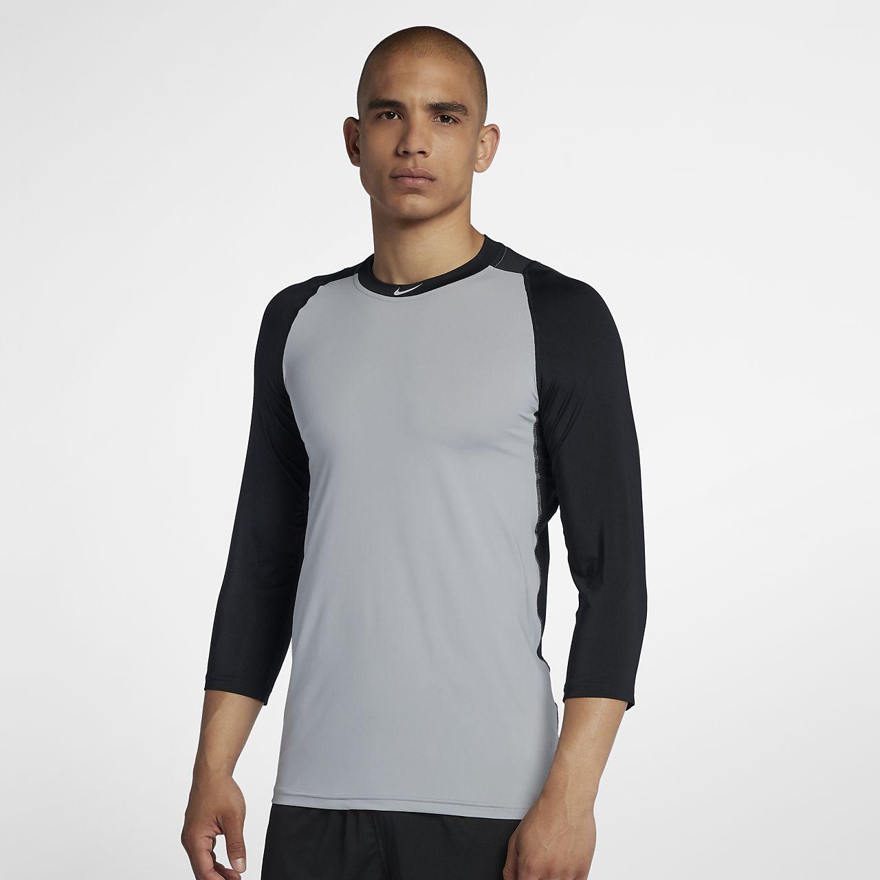 b8afd397 Nike Pro Men's 3/4 Sleeve Baseball Top. Nike.com