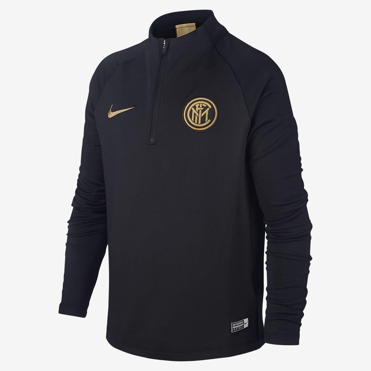 Ποδοσφαιρική μπλούζα προπόνησης Inter Milan Strike για μεγάλα παιδιά