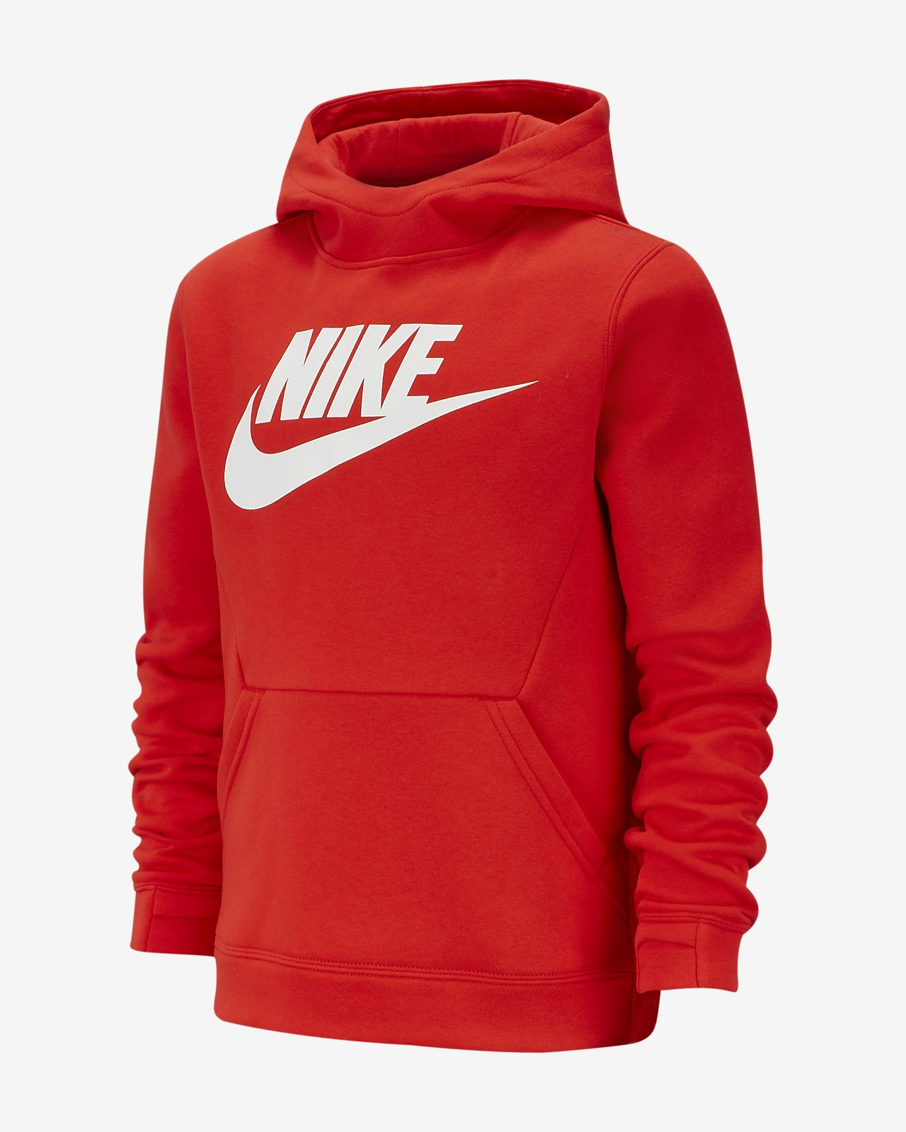 Nike Sportswear-pullover-hættetrøje i fleece til drenge