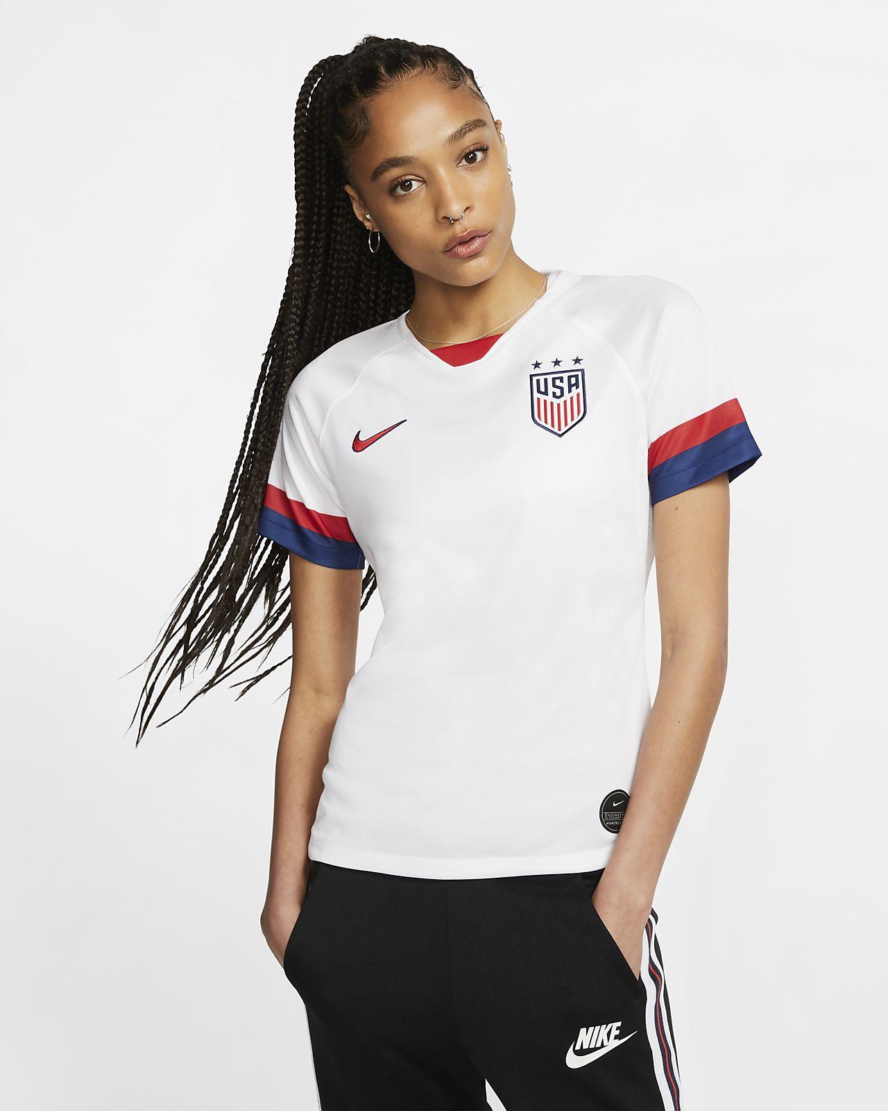 Camiseta de fútbol para mujer de local Stadium de los EE. UU. 2019