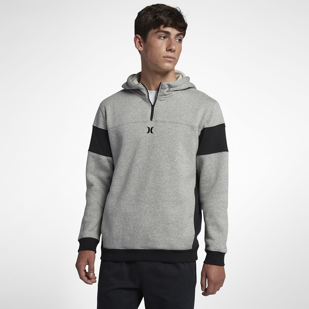 150776d037b43 Hurley Surf Check Quarter-Zip Pullover Men s Hoodie. Nike.com