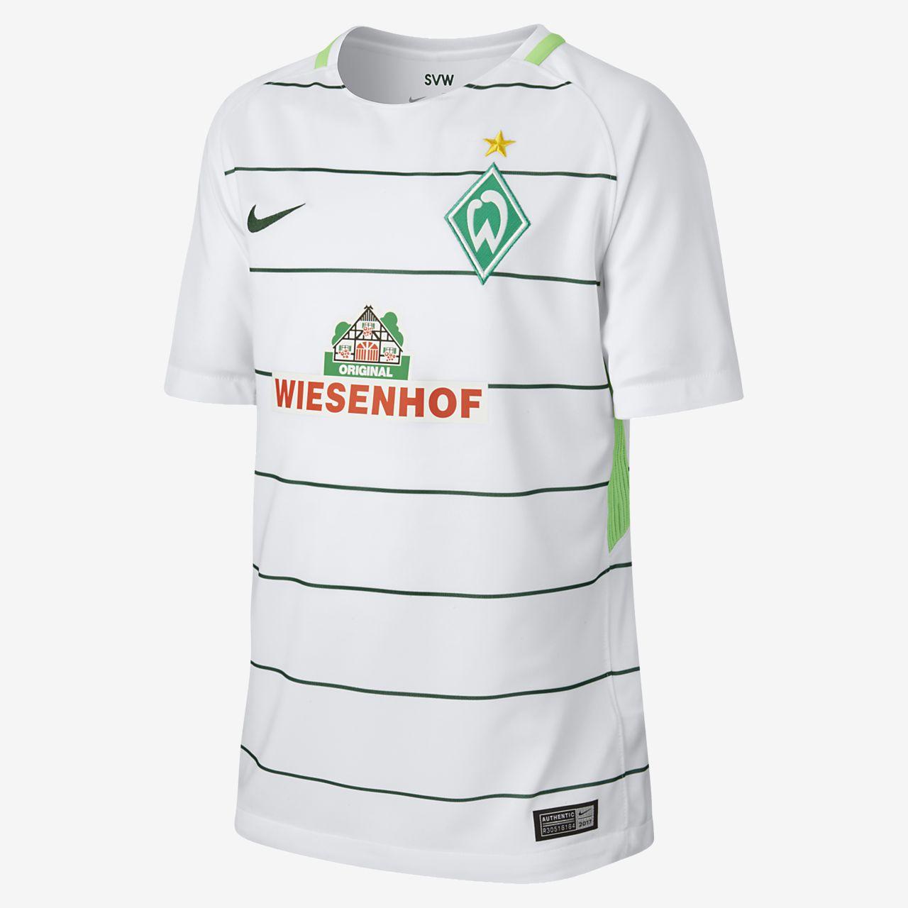... Camiseta de fútbol para niños talla grande Werder Bremen de visitante  para aficionados a8ae9f64cd2