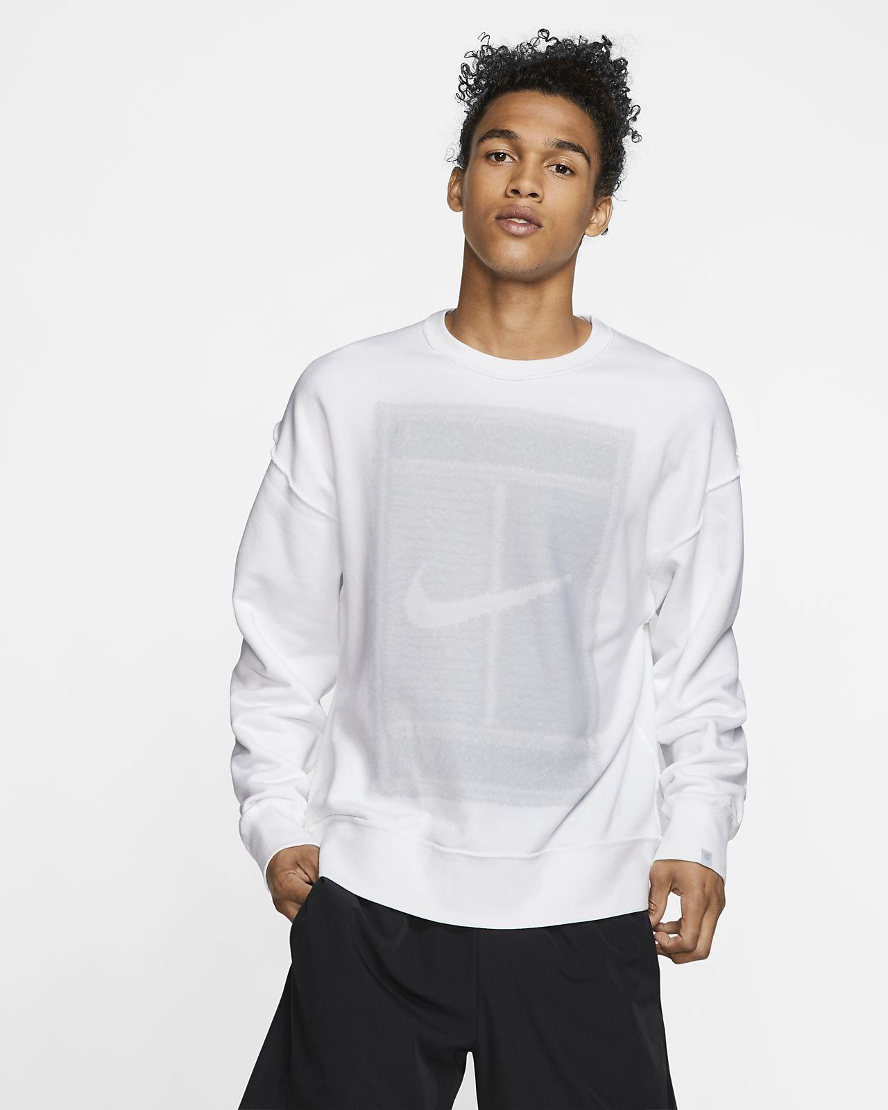 Vändbar tenniströja NikeCourt med rund hals i fleece för män
