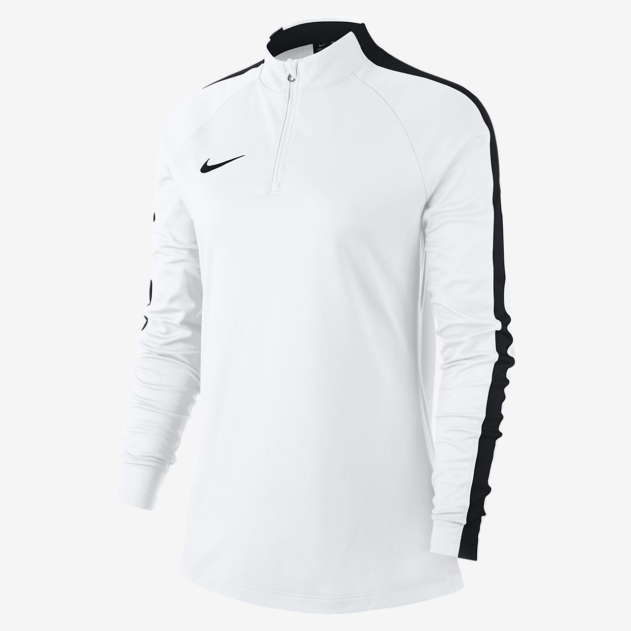 Nike Dri-FIT Academy Drill-fodboldtrøje med lange ærmer til kvinder