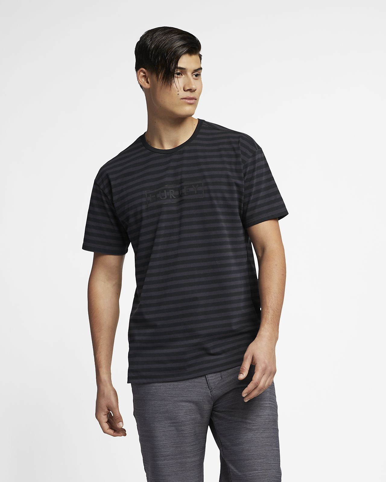 Hurley Dri-FIT One And Only Men s Striped Top . Nike.com be0ee189c