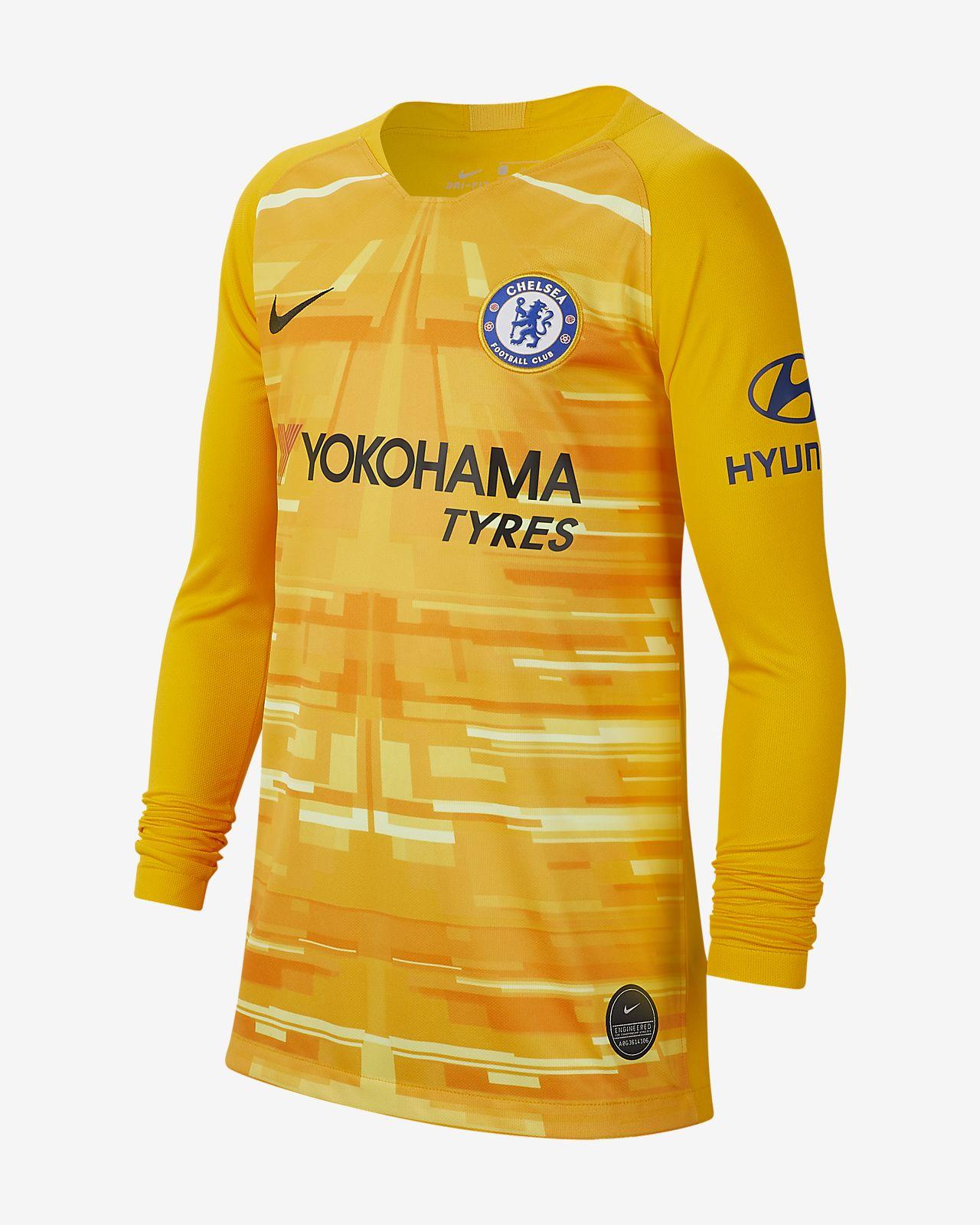 Chelsea FC 2019/20 Stadium Goalkeeper-fodboldtrøje til store børn
