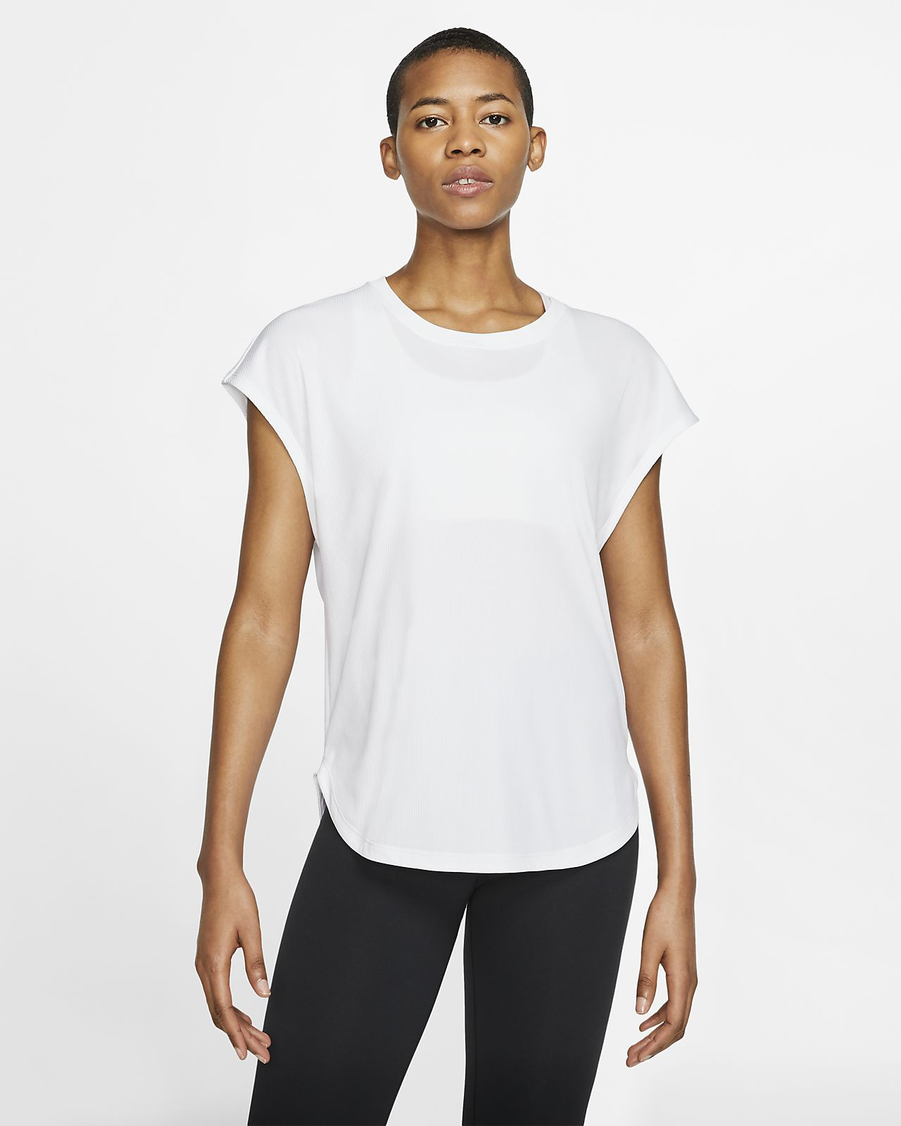 Nike Dri-FIT 女款短袖瑜伽訓練上衣