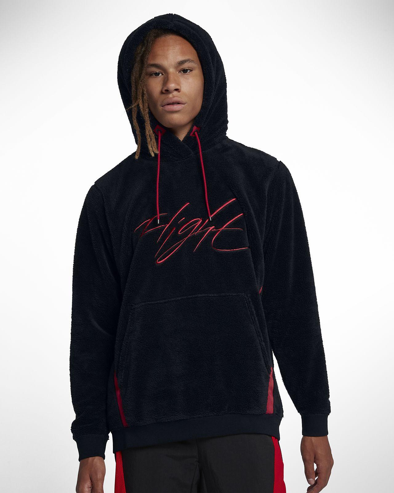 Jordan Sportswear Wings of Flight Men's Sherpa Pullover Hoodie