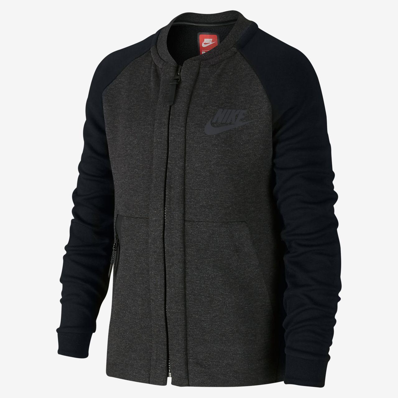 Chaqueta para niños talla grande Nike Sportswear Tech Fleece Bomber ... 2a013179cfd