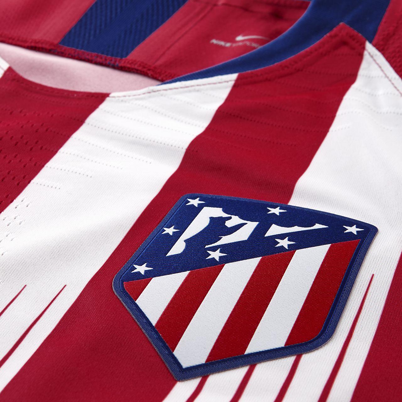 7127c30efe848 ... Camiseta de fútbol para hombre de local Vapor Match del Atlético de Madrid  2018 19