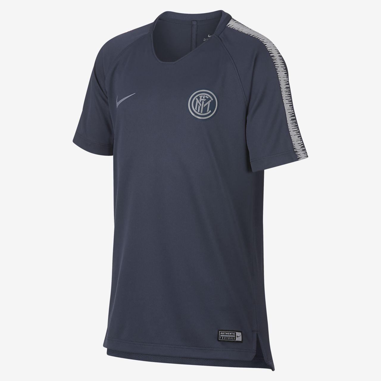 Fotbollströja Inter Milan Dri-Fit Breathe Squad för ungdomar