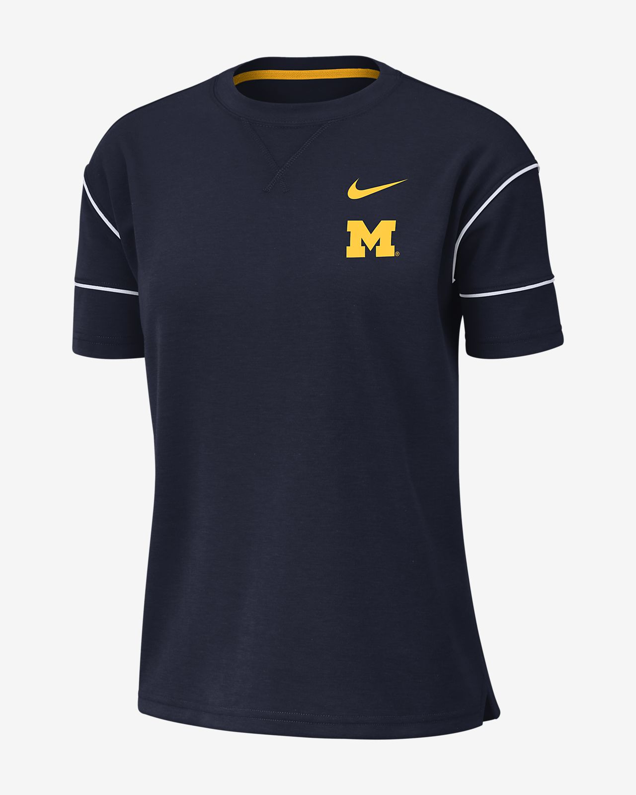Nike College Breathe (Michigan) Women's Short-Sleeve Top