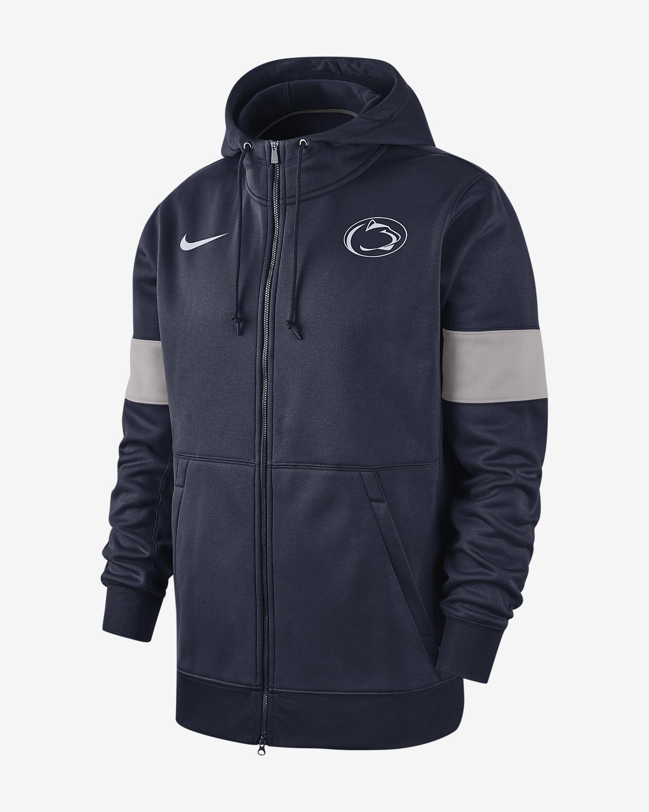 Nike College Therma (Penn State) Men's Full-Zip Hoodie