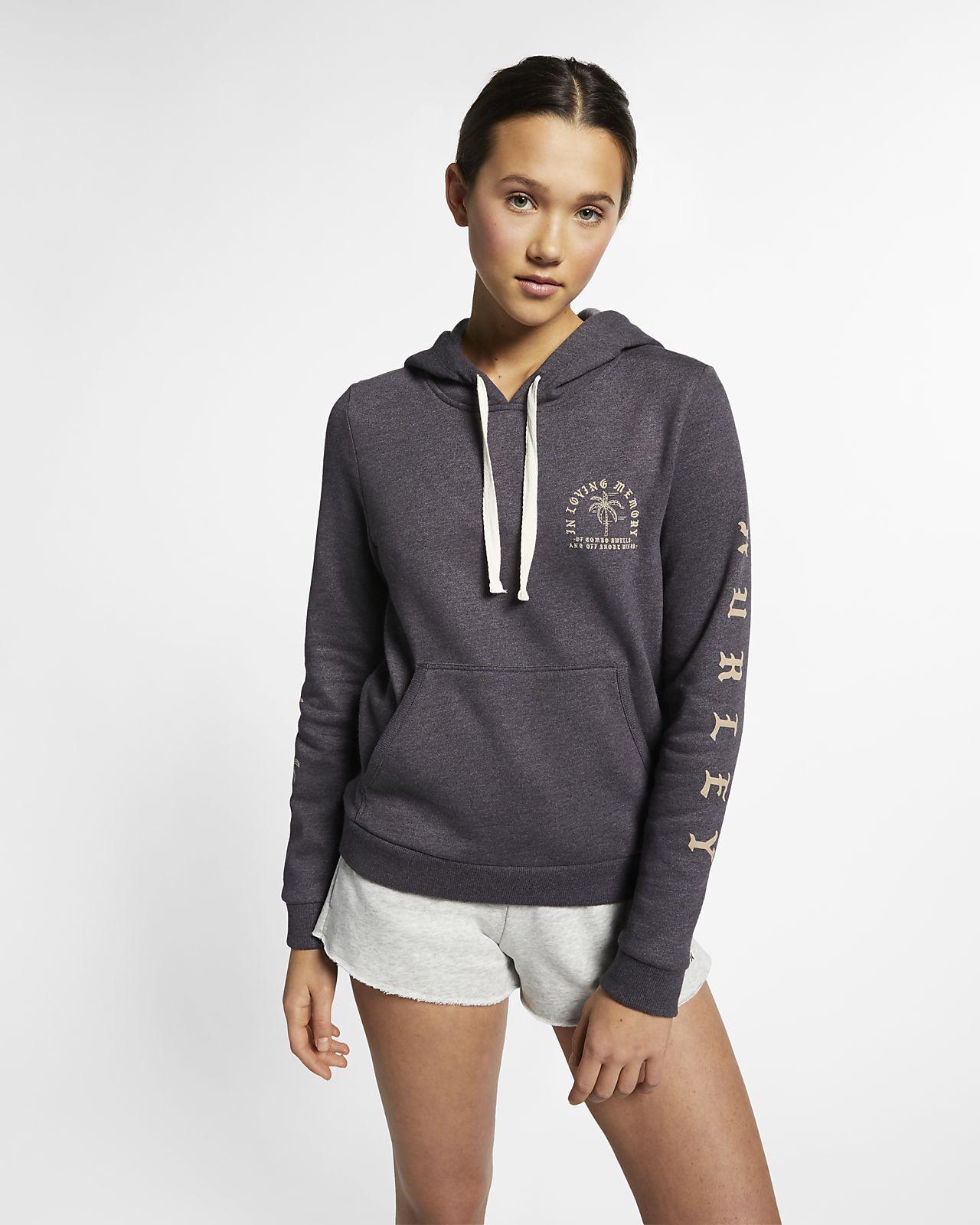 Hoodie pullover de velo Hurley Combo Swells para mulher