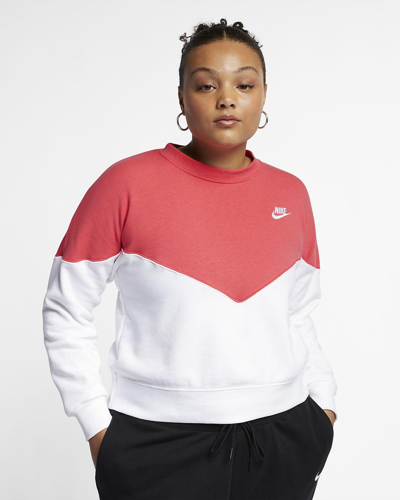 17160449 Nike Sportswear Heritage Women's Fleece Crew (Plus Size). Nike.com