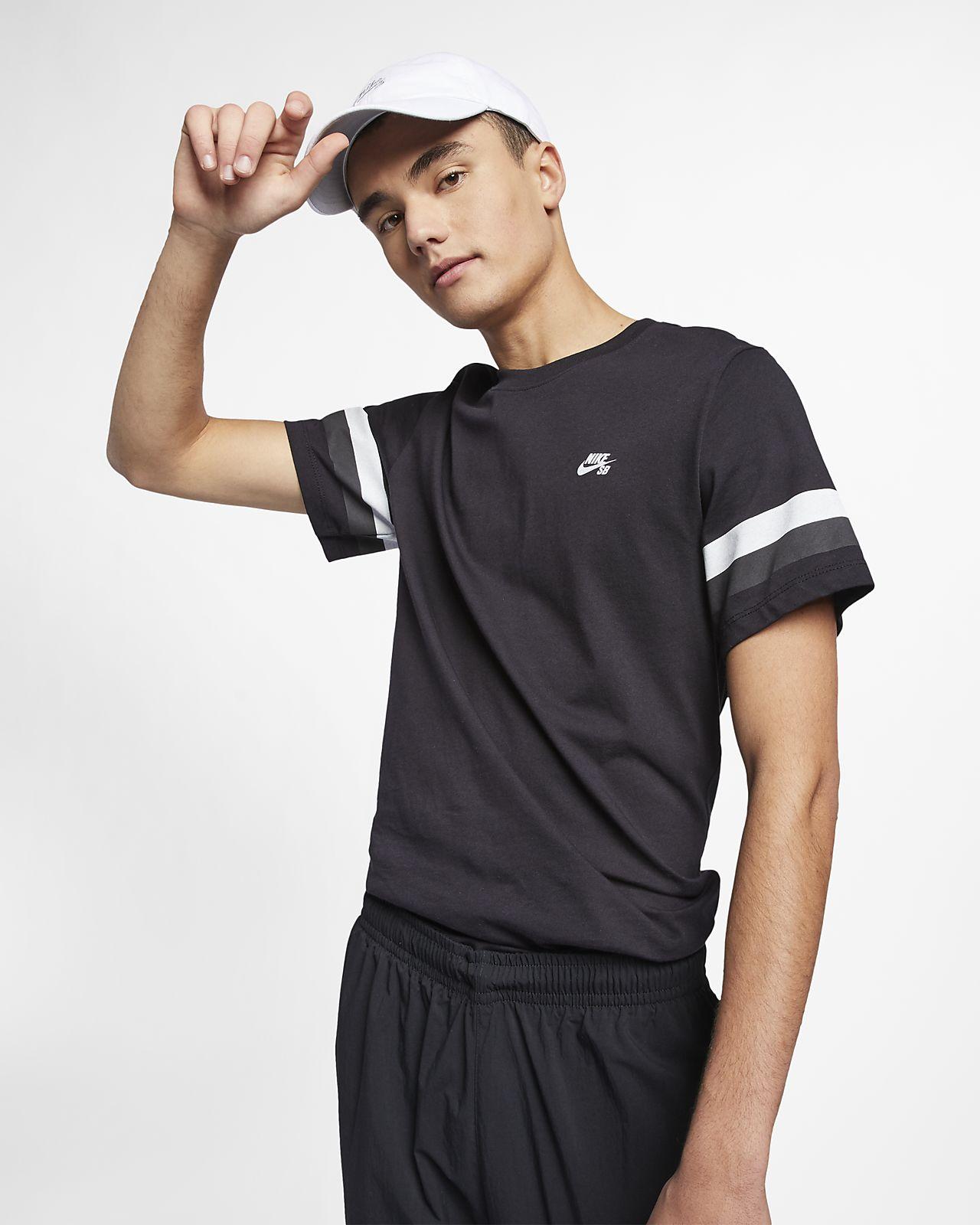 T-shirt de skateboard às riscas Nike SB para homem