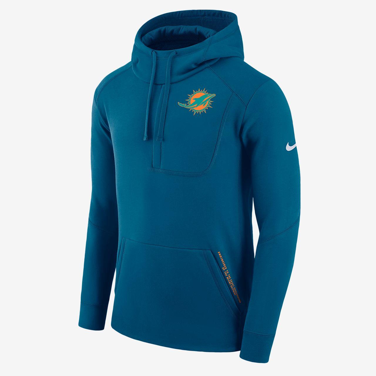 Ανδρική μπλούζα με κουκούλα Nike Fly Fleece (NFL Dolphins)