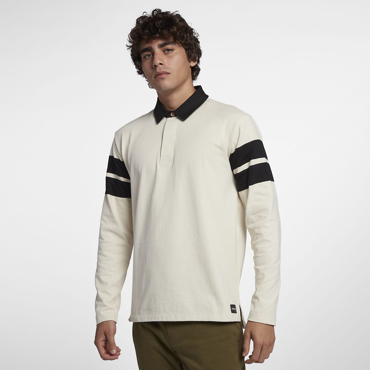 Hurley Rugby Mens Long Sleeve Polo Nike