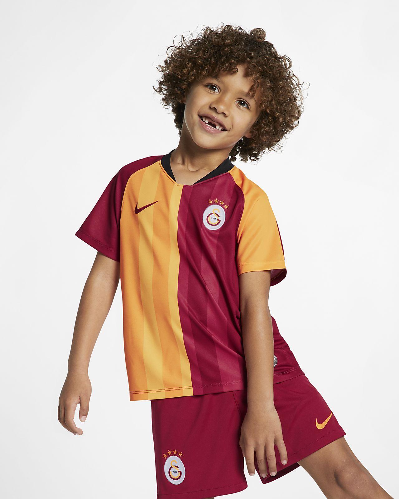 Kit de fútbol de local para niño talla pequeña del Galatasaray 2019/20